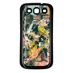 Art Graffiti Abstract Vintage Lines Samsung Galaxy S3 Back Case (black) by Amaryn4rt