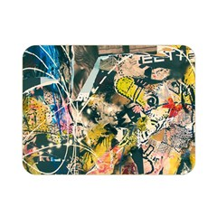 Art Graffiti Abstract Vintage Lines Double Sided Flano Blanket (mini)  by Amaryn4rt