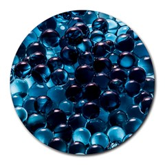 Blue Abstract Balls Spheres Round Mousepads by Amaryn4rt