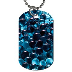 Blue Abstract Balls Spheres Dog Tag (one Side) by Amaryn4rt