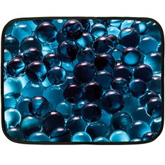 Blue Abstract Balls Spheres Double Sided Fleece Blanket (mini)