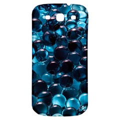 Blue Abstract Balls Spheres Samsung Galaxy S3 S Iii Classic Hardshell Back Case by Amaryn4rt