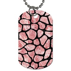 Skin1 Black Marble & Red & White Marble Dog Tag (one Side) by trendistuff