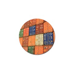 Blue White Orange And Brown Container Van Golf Ball Marker