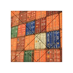 Blue White Orange And Brown Container Van Acrylic Tangram Puzzle (4  X 4 ) by Amaryn4rt