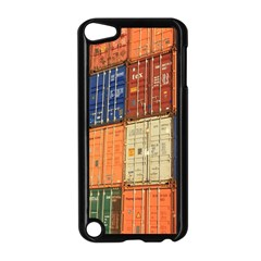 Blue White Orange And Brown Container Van Apple Ipod Touch 5 Case (black) by Amaryn4rt
