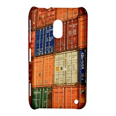 Blue White Orange And Brown Container Van Nokia Lumia 620 by Amaryn4rt