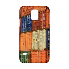 Blue White Orange And Brown Container Van Samsung Galaxy S5 Hardshell Case  by Amaryn4rt