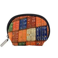Blue White Orange And Brown Container Van Accessory Pouches (small)  by Amaryn4rt