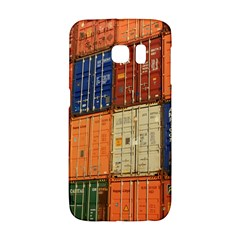 Blue White Orange And Brown Container Van Galaxy S6 Edge by Amaryn4rt