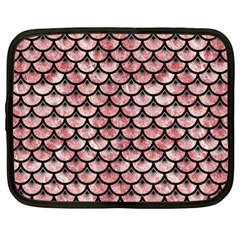 Scales3 Black Marble & Red & White Marble (r) Netbook Case (xl) by trendistuff