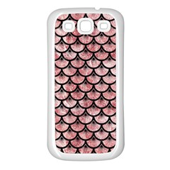 Scales3 Black Marble & Red & White Marble (r) Samsung Galaxy S3 Back Case (white)