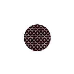 Scales3 Black Marble & Red & White Marble 1  Mini Button by trendistuff