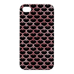 Scales3 Black Marble & Red & White Marble Apple Iphone 4/4s Premium Hardshell Case by trendistuff