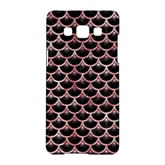 Scales3 Black Marble & Red & White Marble Samsung Galaxy A5 Hardshell Case  by trendistuff