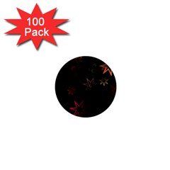 Christmas Background Motif Star 1  Mini Magnets (100 Pack)  by Amaryn4rt