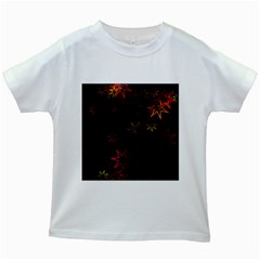 Christmas Background Motif Star Kids White T Shirts