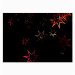 Christmas Background Motif Star Large Glasses Cloth (2 Side) by Amaryn4rt