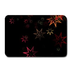 Christmas Background Motif Star Plate Mats by Amaryn4rt