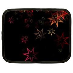 Christmas Background Motif Star Netbook Case (xl)  by Amaryn4rt
