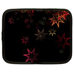 Christmas Background Motif Star Netbook Case (xxl)  by Amaryn4rt