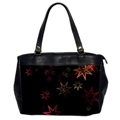 Christmas Background Motif Star Office Handbags (2 Sides)  by Amaryn4rt