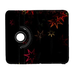 Christmas Background Motif Star Galaxy S3 (flip/folio) by Amaryn4rt