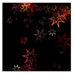 Christmas Background Motif Star Large Satin Scarf (square)