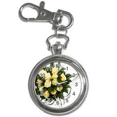 Bouquet Flowers Roses Decoration Key Chain Watches