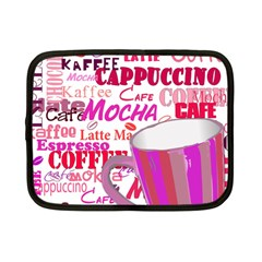 Coffee Cup Lettering Coffee Cup Netbook Case (small)  by Amaryn4rt
