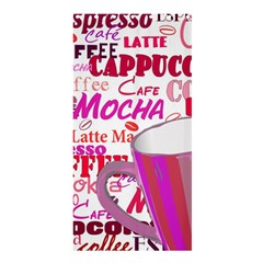 Coffee Cup Lettering Coffee Cup Shower Curtain 36  X 72  (stall)  by Amaryn4rt