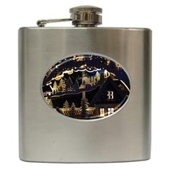 Christmas Advent Candle Arches Hip Flask (6 Oz)