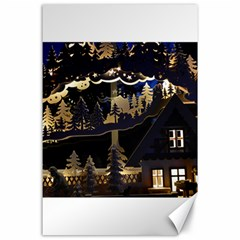 Christmas Advent Candle Arches Canvas 24  X 36  by Amaryn4rt