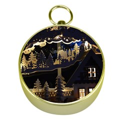 Christmas Advent Candle Arches Gold Compasses by Amaryn4rt
