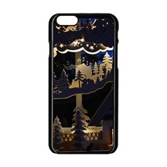 Christmas Advent Candle Arches Apple Iphone 6/6s Black Enamel Case