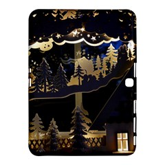 Christmas Advent Candle Arches Samsung Galaxy Tab 4 (10 1 ) Hardshell Case  by Amaryn4rt