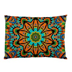 Color Abstract Pattern Structure Pillow Case by Amaryn4rt