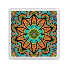 Color Abstract Pattern Structure Memory Card Reader (square)  by Amaryn4rt