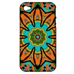Color Abstract Pattern Structure Apple Iphone 4/4s Hardshell Case (pc+silicone)