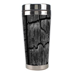 Coal Charred Tree Pore Black Stainless Steel Travel Tumblers by Amaryn4rt