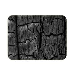 Coal Charred Tree Pore Black Double Sided Flano Blanket (mini)  by Amaryn4rt