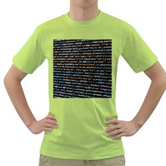 Close Up Code Coding Computer Green T Shirt