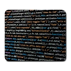 Close Up Code Coding Computer Large Mousepads by Amaryn4rt
