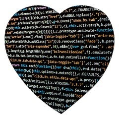 Close Up Code Coding Computer Jigsaw Puzzle (heart) by Amaryn4rt