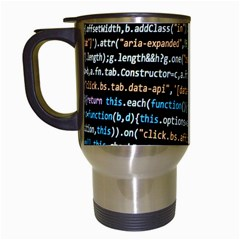 Close Up Code Coding Computer Travel Mugs (white) by Amaryn4rt