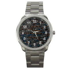 Close Up Code Coding Computer Sport Metal Watch by Amaryn4rt