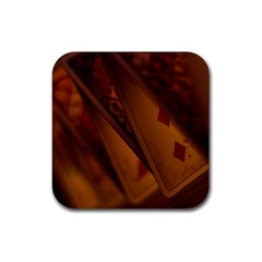Card Game Mood The Tarot Rubber Square Coaster (4 Pack)  by Amaryn4rt