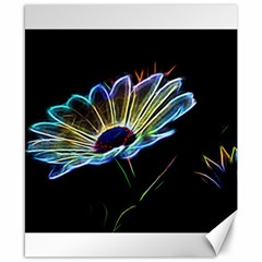 Flower Pattern Design Abstract Background Canvas 8  X 10  by Amaryn4rt