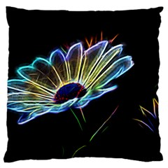 Flower Pattern Design Abstract Background Large Flano Cushion Case (one Side) by Amaryn4rt