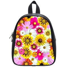 Flowers Blossom Bloom Nature Plant School Bags (small)  by Amaryn4rt